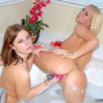 Super hot molly and her heart shaped box share some valentines dildo lesbo action in these amazing pics